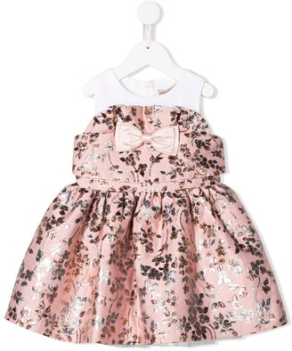Hucklebones London bow floral embroidered dress