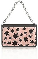 Alexander Wang Attica Chain Flat Pouch In Cameo Pink With Leaf Print