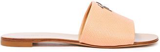 Giuseppe Zanotti Lizard-effect Leather Slides