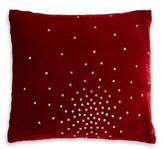 Aviva Stanoff Design Studio Swarovski Crystal & Red Velvet Pillow