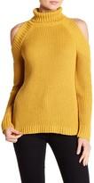 Rain + Rose Cold Shoulder Turtleneck Sweater