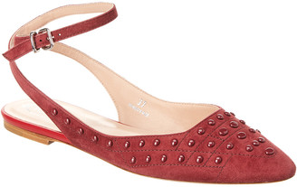 Tod's TodS Suede Ankle-Strap Flat