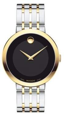 Movado Esperanza Stainless Steel & Yellow Bracelet Watch