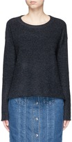 James Perse Cashmere tuck stitch knit cropped sweater