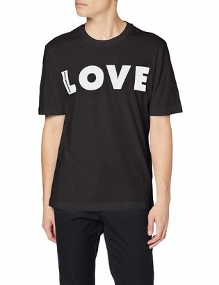 Love Moschino Men's Regular Fit Short Sleeve T-Shirt_Logo Print