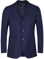 Lardini Blue Textured Wool Blazer