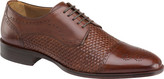 Johnston & Murphy Men's Nolen Woven Cap Toe Derby
