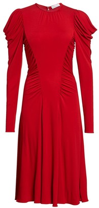 Michael Kors Ruched Midi Dress