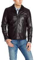 Cole Haan Men's Smooth Leather Collar Jacket