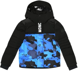 Moncler Enfant Arpon camo-print down jacket