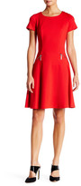 Chetta B Short Sleeve Fit & Flare Dress