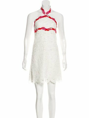 Giamba 2016 Lace Dress White