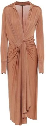 Dodo Bar Or Asymmetric stretch-knit midi dress