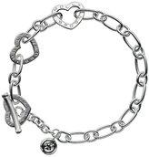 """Molly Brown London Sterling Silver 6.75"""" Heart Link Bracelet"""