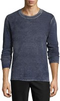 ATM Anthony Thomas Melillo Faded Wool-Cashmere Crewneck Sweater