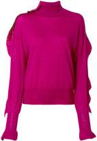 Laneus ruffled detail jumper - women - Virgin Wool - 44