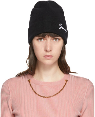 Givenchy Black Wool Signature Beanie