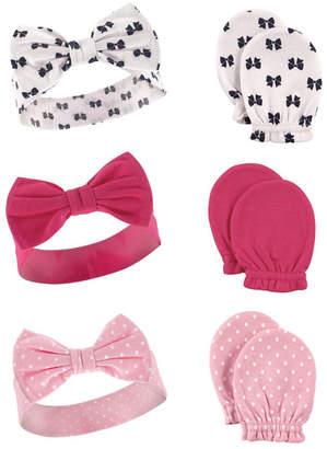 Baby Vision Hudson Baby Headbands and Scratch Mittens, 6-Piece Set, 0-6 Months