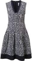 Carolina Herrera brush splatter print dress