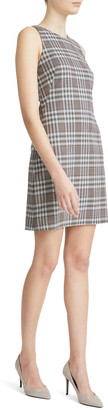 Theory Sleeveless Check Good Wool Dress
