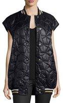 Stella McCartney Sabine Sleeveless Quilted Vest Jacket, Ink