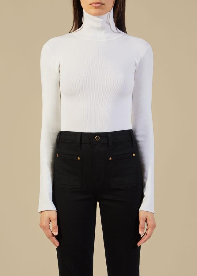 KHAITE The Cate Bodysuit in White