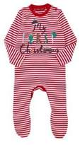 F&F My First Christmas Striped Sleepsuit