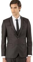 Thomas Nash Big And Tall Dark Grey Split Seam Suit Jacket