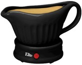 Elite Gourmet 17-Ounce Gravy Boat Warmer with lid in Black