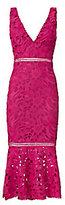 Nicholas Pink Trumpet Hem Lace Dress