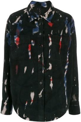 Raquel Allegra Contrast Detail Button-Down Shirt