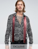 Reclaimed Vintage Party Shirt With Neck Scarf In Regular Fit