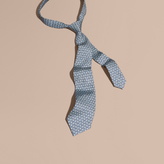 Burberry Modern Cut Floral Print Silk Tie