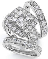 Macy's 14k White Gold Diamond Bridal Ring Set (4 ct. t.w.)