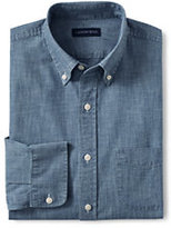Classic Men's Traditional Fit Buttondown Chambray Shirt-Light Indigo