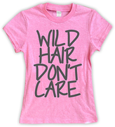 Urban Smalls Heather Pink 'Wild Hair Don't Care' Fitted Tee - Toddler & Girls