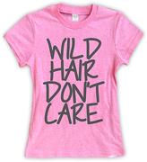 Urban Smalls Heather Pink 'Wild Hair Don't Care' Tee - Toddler & Girls