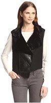 Allison Collection Women's Faux Fur Moto Vest