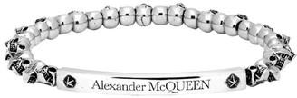 Alexander McQueen Silver Skull Bracelet