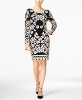 INC International Concepts Petite Jacquard Sheath Sweater Dress, Only at Macy's