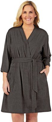 Cuddl Duds Plus Size Essentials Wrap Robe