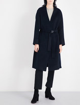 Vince Self-tie wool and cashmere-blend coat