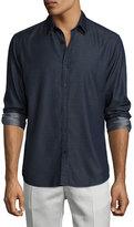Theory Zack Chambray Sport Shirt, Indigo