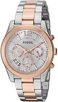 Fossil Women's Quartz Stainless Steel Watch, Color:Two Tone (Model: ES4135)