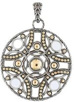 John Hardy Palu Bulan Two-Tone Circle Pendant Necklace