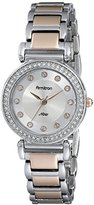 Swarovski Armitron Women's 75/5259SVTR Crystal Accented Rose Gold-Tone and Silver-Tone Bracelet Watch