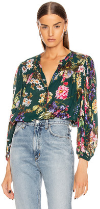 Icons Objects of Devotion The Modern Poet Top in Wallpaper Floral   FWRD