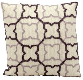 Nourison Life Styles Grey&Charcoal Stars Ivory Throw Pillow
