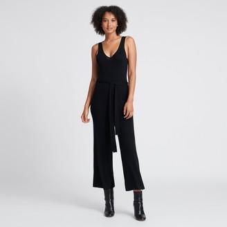 Naadam Ribbed Jumpsuit Black