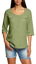 Eddie Bauer Women's Regular Fit 3/4 Sleeve Blouse - Green -